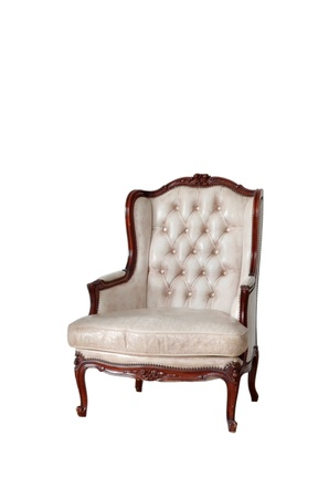 classical style Armchair sofa couch in vintage room  Stock Photo