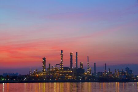 oil refinery plant at twilight morning Stock Photo - 16261650