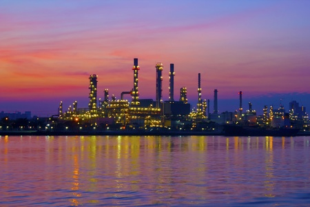 oil refinery plant at twilight morning  Stock Photo - 16261648