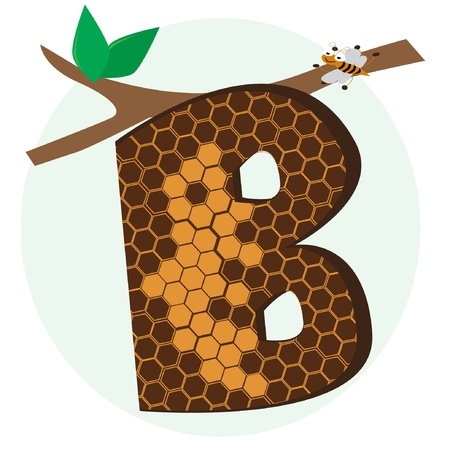 bubble letters: vector alphabetical of honeycomb Illustration