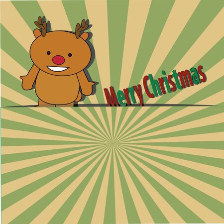 Vintage  Christmas card Stock Vector - 17719969