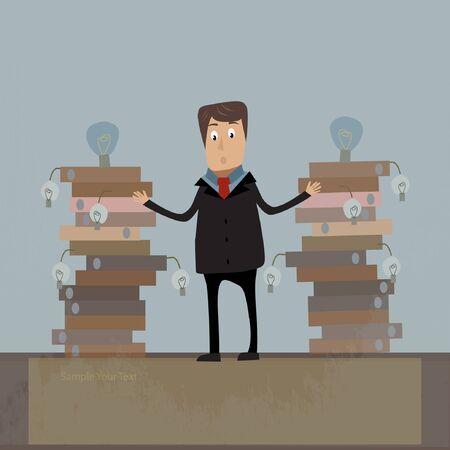 businessman concept illustration Stock Vector - 17719675