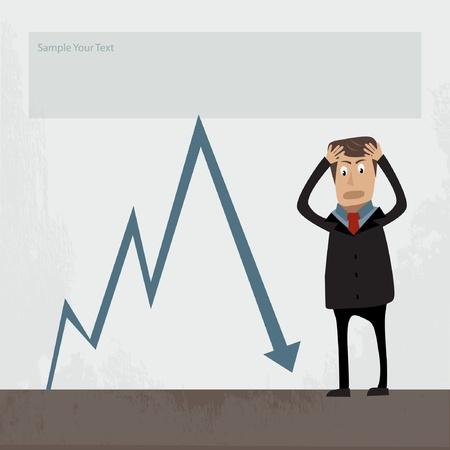 businessman concept illustration  Illustration