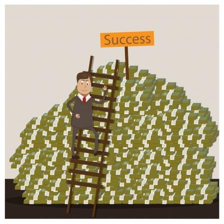 businessman concept  illustration Stock Vector - 17719648