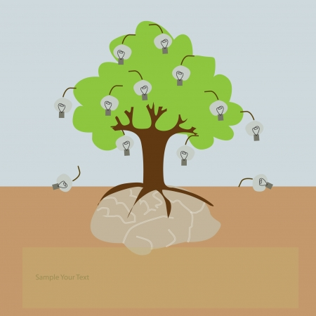 A tree growing from the brain Stock Vector - 17719512