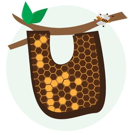 vector alphabetical of honeycomb Stock Vector - 17719518