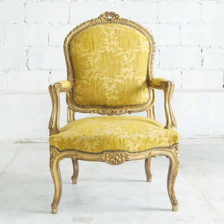 classical style Armchair sofa couch in vintage room photo