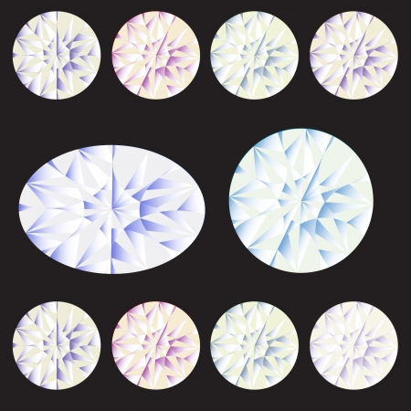 Vector set types of diamond Vector