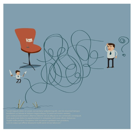 slatternly: business idea Illustration