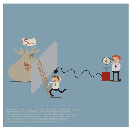 commotion: business idea Illustration