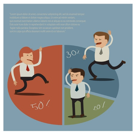 disarray: businessman Illustration