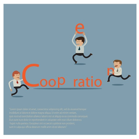 slatternly: businessman Illustration