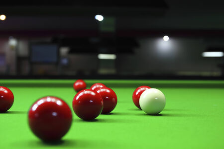 snooker balls: Three different colour snooker balls on the table 2