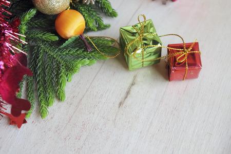 Christmas composition and Christmas decoration photo