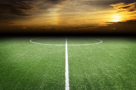Campo de fútbol  Foto de archivo - 43049899