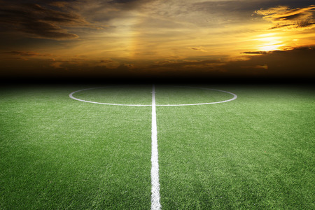 pitch: soccer field
