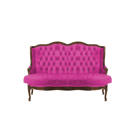 luxurious: Luxurious armchair in white background