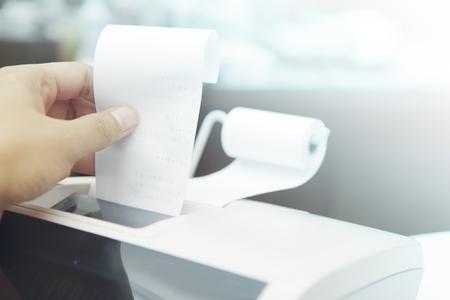 cash receipt: Cash Register, Receipt, Retail. Stock Photo