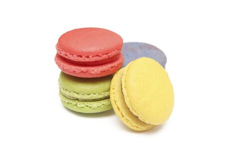 colorfu: colorfu ofl macaroons  on white baclground Stock Photo