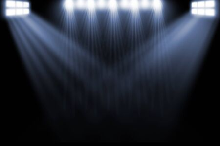 floodlit: Spotlight, Stock Photo