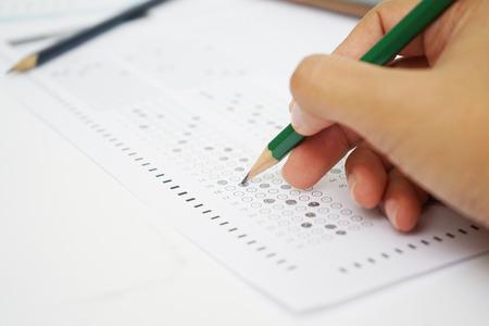 formulaire de test au crayon