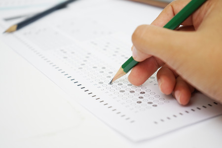 testformulier met potlood