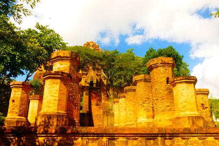 po: Ancient ruins of Po Nagar Towers Stock Photo
