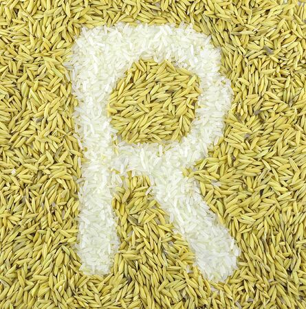 Letter from rice  photo