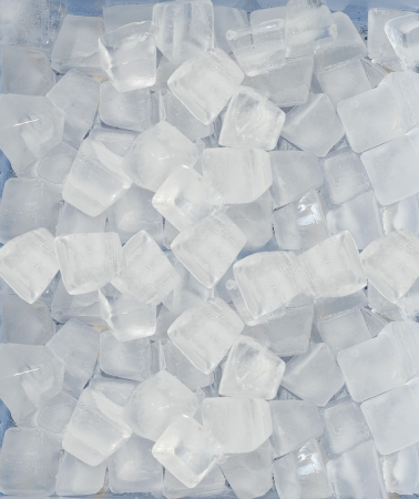 Background of blue ice cubes photo