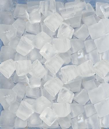 cubetti di ghiaccio: Sfondo di cubetti di ghiaccio blu Archivio Fotografico