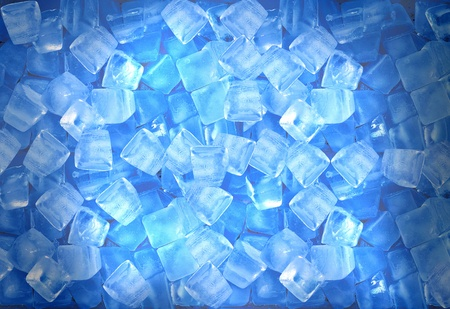 ice cubes: Background of blue ice cubes