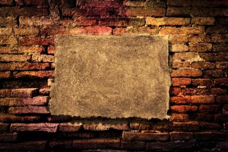 brique: Vieux mur de briques comme arri�re-plan