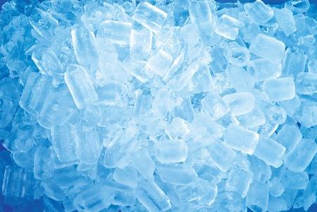 Background of blue ice cube photo