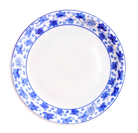 Painted plate isolated on white