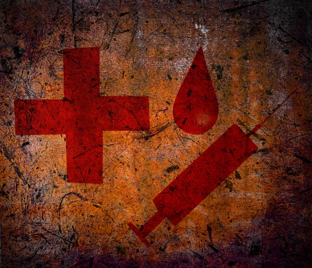 Medical grunge background  photo