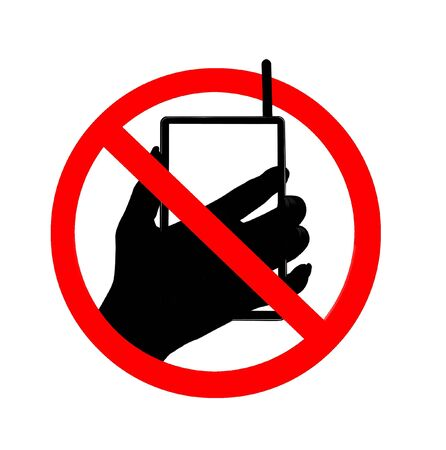 no cell: Do not talk mobile phone  Stock Photo