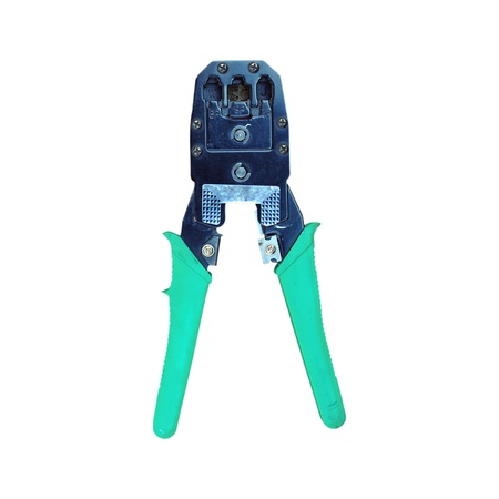 crimper: Network cable crimper on whitebackground