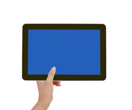 touch tablet computer isolated on white background Stock Photo - 11477138