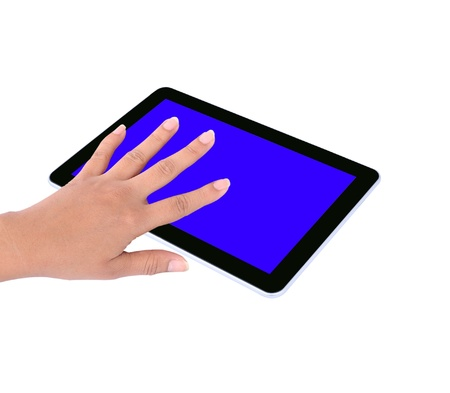 touch tablet computer isolated on white background Stock Photo - 11721073