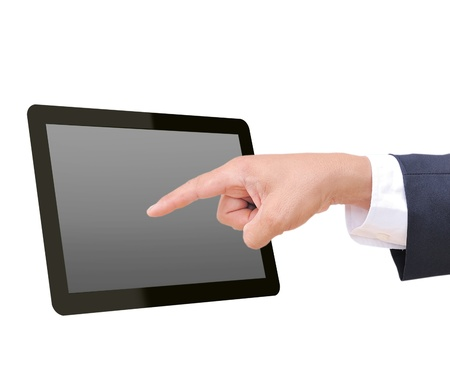 touch tablet computer isolated on white background  Stock Photo - 11721216