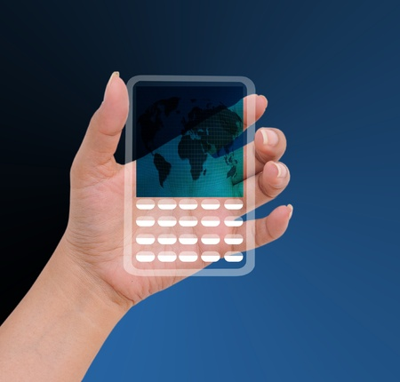Hand female to hold card, mobile phone, tablet PC or other palm gadge  Stock Photo - 11721340