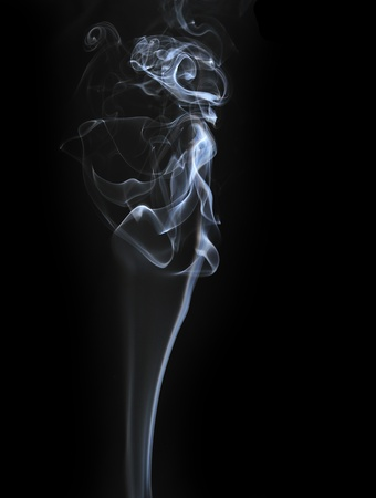 cigarette smoke: Abstract smoke isolated on black