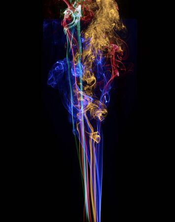 Abstract smoke isolated on black photo