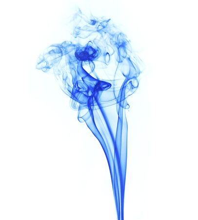 Abstract smoke isolated on white photo