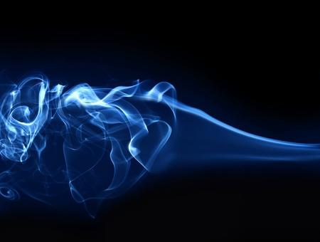 cigarette smoke: Abstract fumo isolato su fondo nero Archivio Fotografico