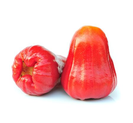 Rose apples on white background photo