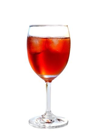 sweetened: iced tea isolated on white