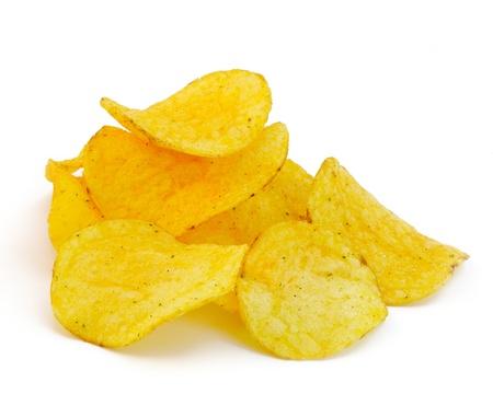 potato chips: Potato chips isolated on white background