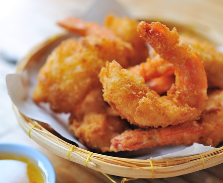 prawn: Camarones fritos