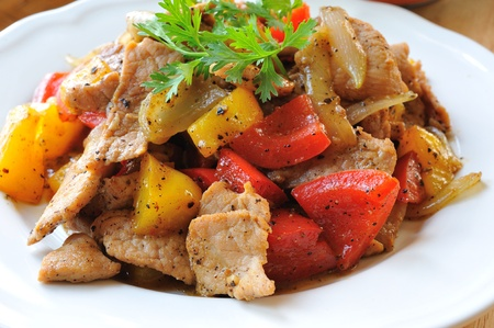 pepper pork  photo
